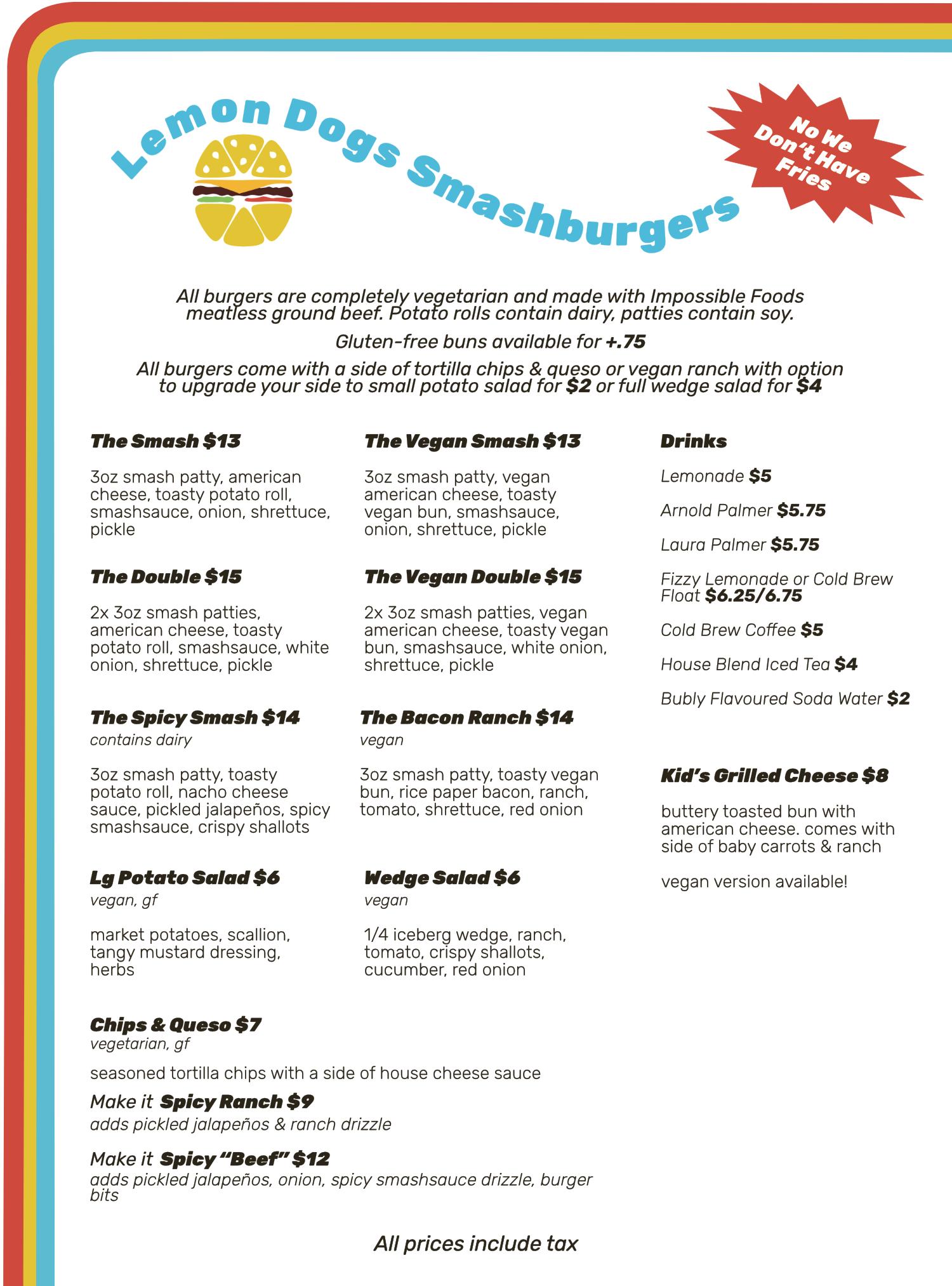 May 21 burger menu
